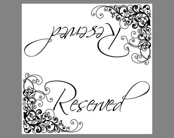 Wedding reserve sign | Etsy
