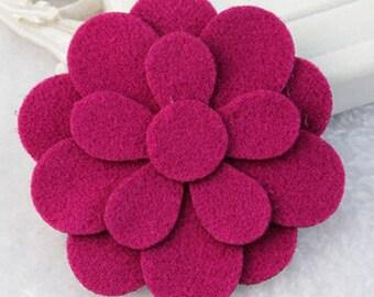 Hair Velcro act like a Sticker! Hair Accessories,Felt flower, Girl, teen, Women,toddler