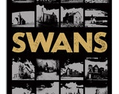 SWANS - screen printed gig poster, Dublin, 2015