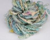 Handspun Curly Yarn - Pretty Lock Spun - Sea Dream - 36 Yards