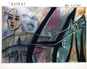 ARTMAMATOTO Framed Original Mixed Media Figurative Painting - One Thousand Thousand No. 333,681 - OOAK