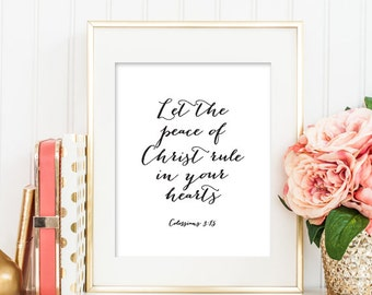 Christian PRINTABLE ART, Bible Verse Printable, Scripture Art, Colossians Bible Verse, Christian Printable Art, Nursery Printable Art 117