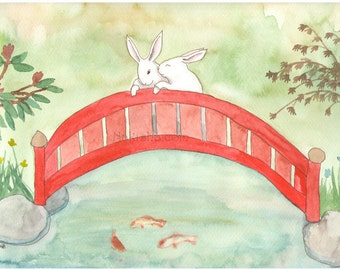 Arched Bridge - Fine Art Print - Rabbits