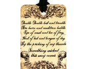 Halloween Tags , Something Wicked , Vintage Style , Skull , Treat Bag Tags , Trick or Treat ,  Spooky , Party Favorss