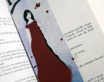 Snow white - illustrated bookmark