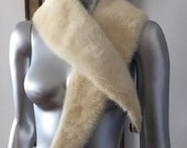 Lovely Creamy White Mink Fur Collar
