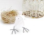 2nd Wedding Anniversary Cotton Bird White