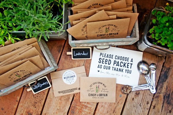 Seed Packet Wedding Favors. Let love grow wild - year after year