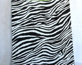 zebra eco market tote, reusable fabric shopping bag