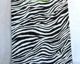 zebra eco market tote, reusable fabric shopping bag