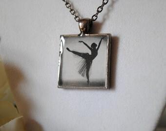 Ballet Silhouette Pendant Necklace