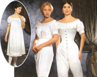 Simplicity 9769 CIVIL WAR UNDERGARMENTS Costume Pattern The Fashion Historian Series Martha McCain - Espanol Instructions