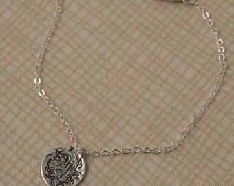 Alphabet Jumble Sterling Siver Charm Bracelet