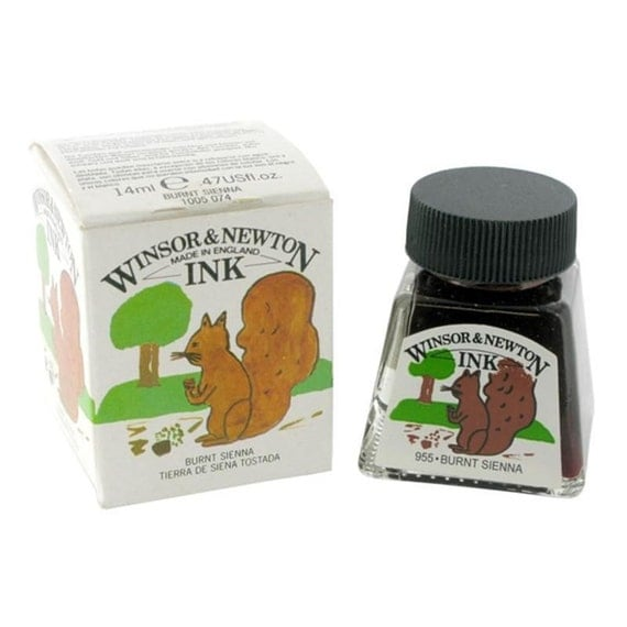 Winsor Newton Burnt Sienna Drawing Calligraphy Ink Dip
