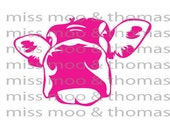 Neon Pink Cow Head Decal Cow Decal Equine Vinyl Wall Decal Car Decal Laptop Decal