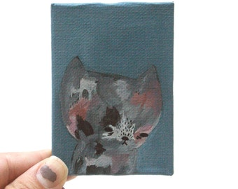 cat painting, all the waiting