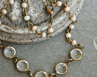 Jane. romantic vintage style layering beaded necklace. Tiedupmemories