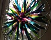 """Handmade Original Fused Glass Art / Home Decor """"Kaleidoscope"""""""