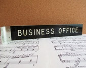 Vintage Wall Mounted Business Office Sign