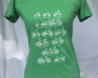 Cycles of Life green triblend heather women's bike shirt
