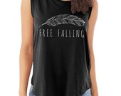 Free Falling Cap Sleeve Cotton Muscle Tee shirt Alternative Apparel
