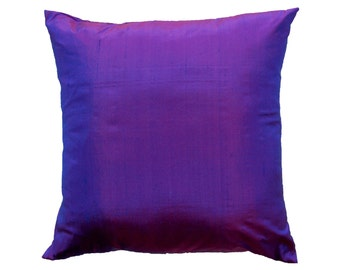 Purple Pillow Cover - Silk Violet Cushion Cover - 16 x 16