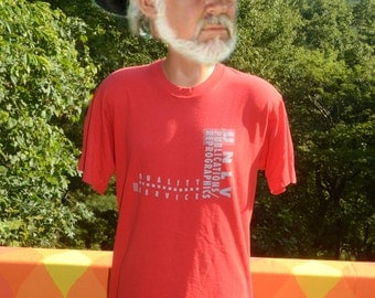 vintage 80s tee UNLV university nevada las vegas print shop graphic t-shirt Large Medium red