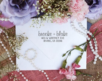 Custom Return Address Self Inking Stamp, Cute Return Address Stamp for Couples --3199