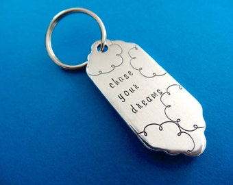 Chase Your Dream Keychain - Cloud Keychain