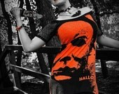 Halloween Horror shirt dress alternative clothing gothic apparel michael myers top reconstructed