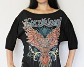 Korpiklaani shirt loose fit slouch top poncho oversized band tee folk metal clothing alternative apparel gothic clothing