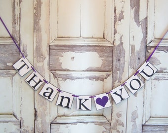 Thank You Sign, Rustic Wedding, Rustic Wedding Banner,Banner Wedding Photo Prop,Wedding Sign,Thank you Sign, Wedding Decoration