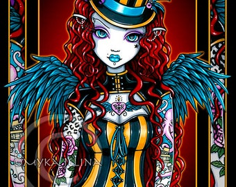 Steampunk Tattoo Couture Circus Layla Angel Art Print SE