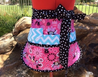 Sassy Half Vendor Apron, Back to School, Sturdy, 6 pockets, great for Vendors, Utility, Gardening, Farmers Market