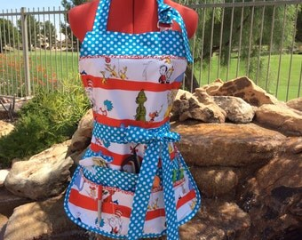 Full Vendor Utility Apron with Bib, 6 Pockets, Womens Plus Sizes, Teachers Aprons, Back to School, Gardening Apron, Farmers Market