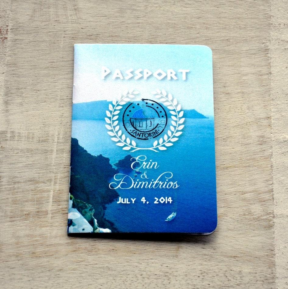 Passport Wedding Invitation Design Fee Greek Coast Design