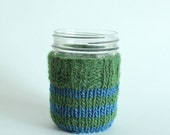 Mason Jar COZY ONLY - Grass Green and Indigo Blue