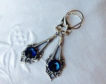 osO ALIX Oo blue montana silver earrings