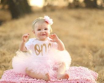 First Birthday Outfit Tutu, 1st Birthday Outfit Tutu, Cake Smash Outfit Girl Tutu, SEWN Tutu Skirt, Tulle Skirt, 1st Birthday Tutu, Gift