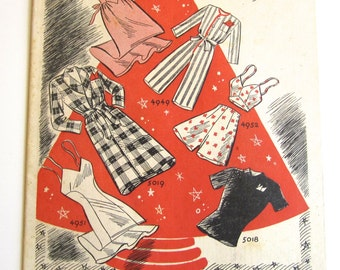 Vintage Pattern Catalog Booklet McCall Style News December, 1942 - ORIGINAL