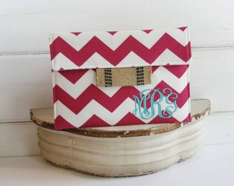 Monogrammed Personalized15 MacBookCase|laptop cover|macbook sleeve|Hot Pink Chevron Laptop Macbook Case|Made to FIT ANY BRAND laptop