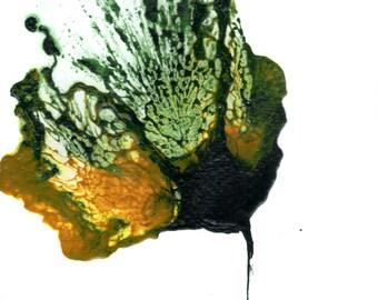 Modern Art, Flower Painting, Green Art, Abstract Floral, Wall Art