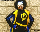 Comic Con Static Shock cosplay costume - Leather Mask - Shock - Fast Shipping