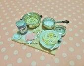 Reserved - Dollhouse Miniature Mushroom Spaghetti Carbonara