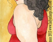 Angel in a Red Dress (5x7 or 8x10 print)