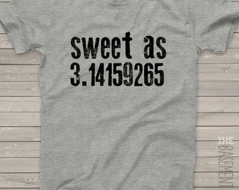 Back to school sweet as Pi Tshirt - fun back to school gift for boys and girls