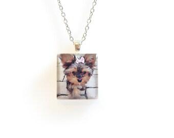 Personalized Photo Necklace - Custom Instagram Necklace - Keepsake Photo Jewelry - Hipstamatic - Custom Photo Jewelry - Dog Photo Necklace