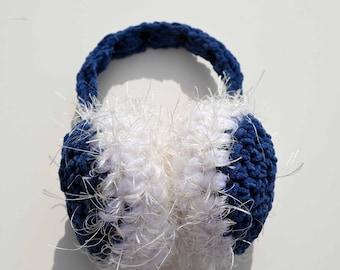 Big Fluffy Blue Suede Persuasion: EarMuffs Crochet Pattern, PDF