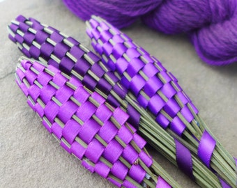 Lavender Wands - Moth Repellent Prevention for Handknits Wool Yarn Fiber Storage - 28 Colors Available!