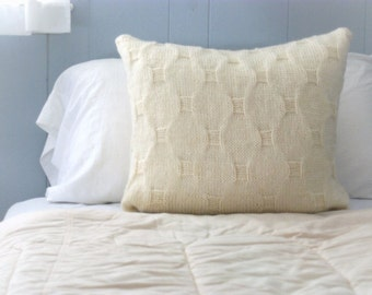Knit Pillow Cover, Sweater Pillow, Knit Pillow Slip Cover, Cobblestone Knit Pillow Sham, Knit Cushion, Knit Throw Pillow